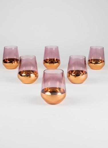 Rakle 425 cc Golden Eye 6'lı Meşrubat Bardağı Seti Bakır Bakır